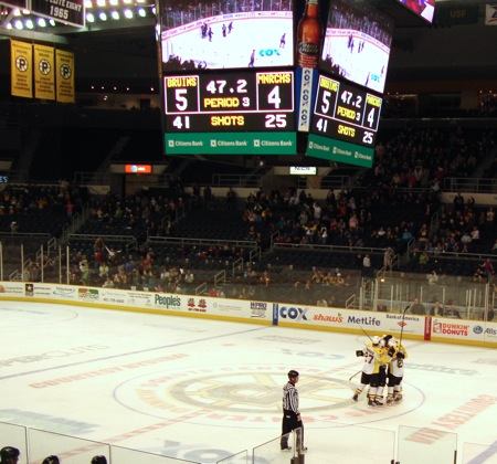 Providence Bruins Score The Winner Against Manchester