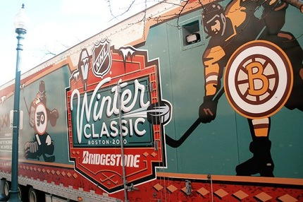 Winter Classic Trucks Arrive At Fenway Park