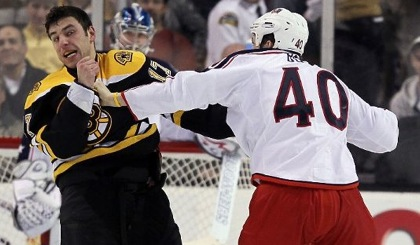 Milan Lucic Fights Jared Boll