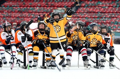 Bruins Kids at Winter Classic