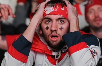 Sad Canadian Hockey Fan
