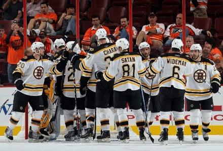 boston bruins winning series 3-0