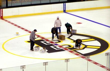 Boston Bruins Logo Painting